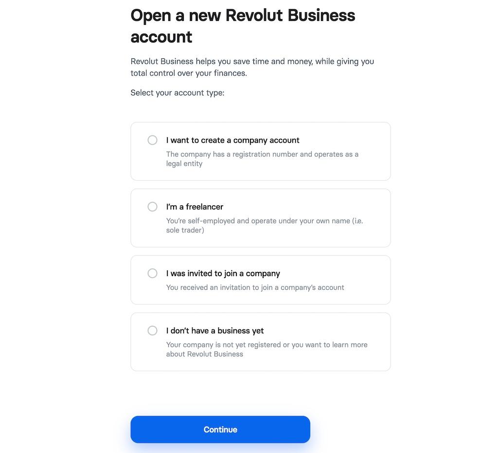 Open Revolut Business Account